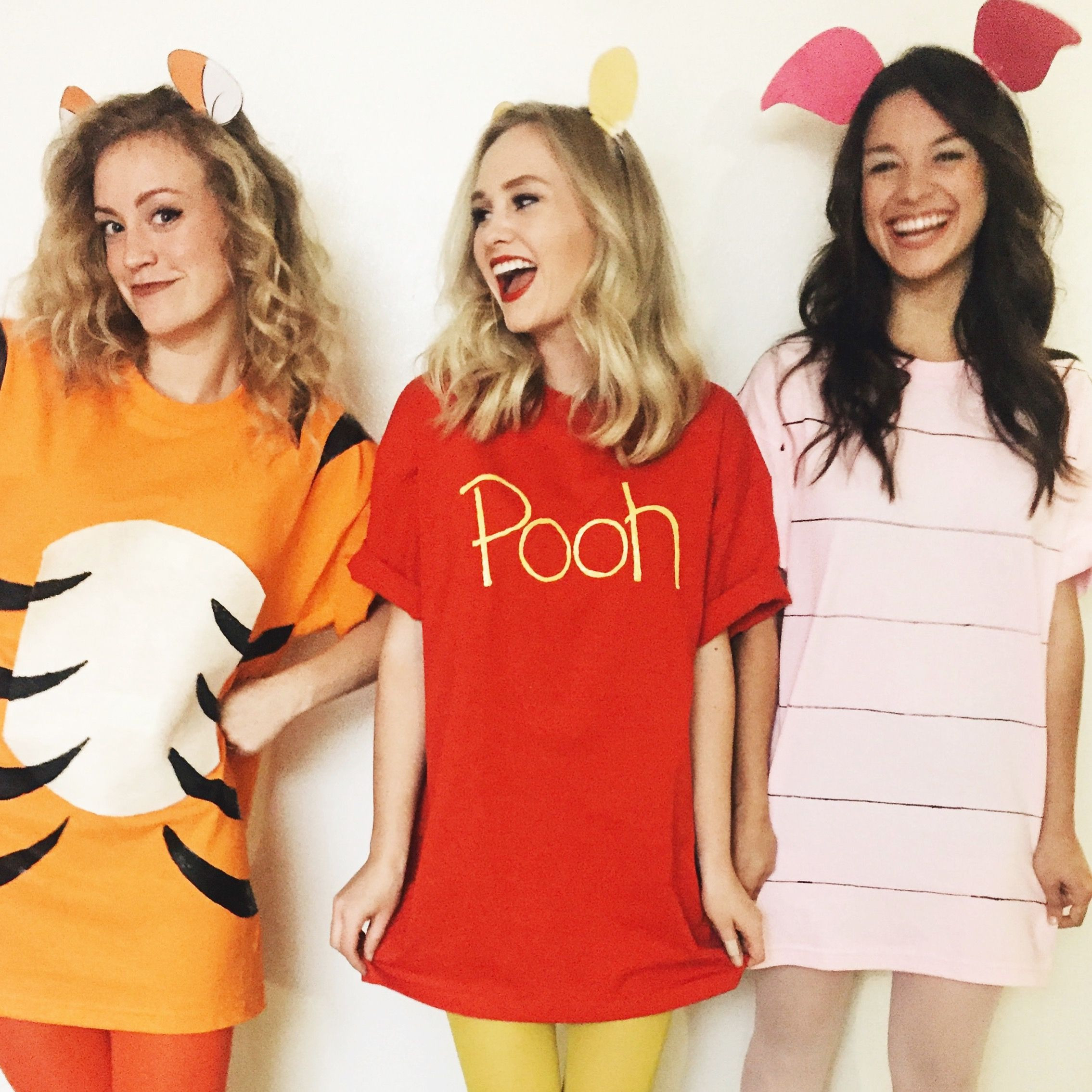 Best ideas about Pooh Bear Costume DIY . Save or Pin Halloween DIY Costumes Pooh Bear Piglet & Tigger Now.