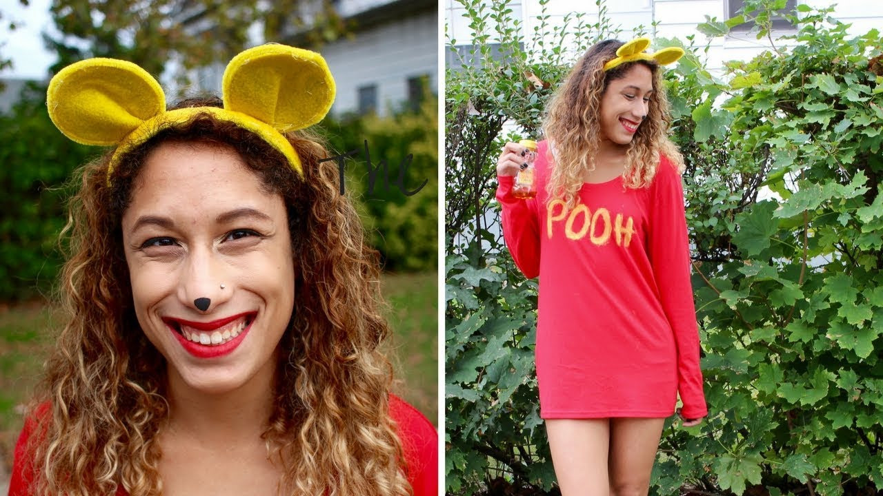 Best ideas about Pooh Bear Costume DIY . Save or Pin LAST MINUTE DIY WINNIE THE POOH COSTUME For Under $10 Now.