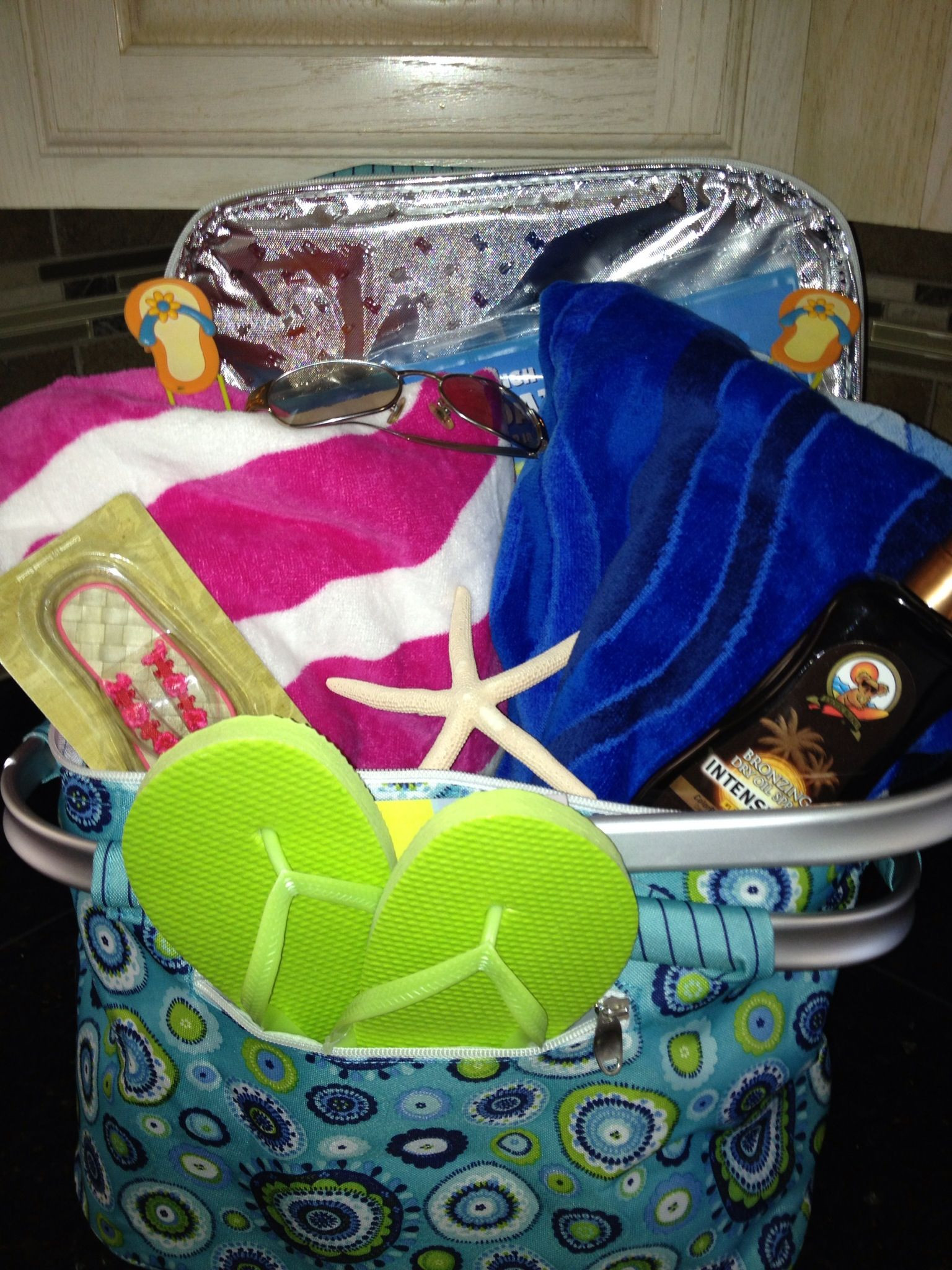 Best ideas about Pool Gift Ideas . Save or Pin Beach Pool Gift Basket Gift Baskets Pinterest Now.
