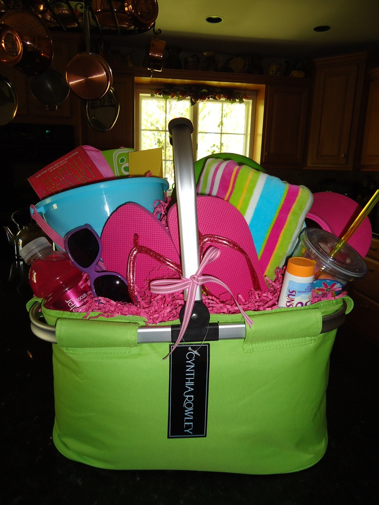 Best ideas about Pool Gift Ideas . Save or Pin 8 best Beach Basket images on Pinterest Now.