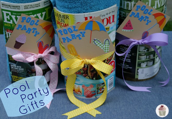 Best ideas about Pool Gift Ideas . Save or Pin Pool Party Gifts Hoosier Homemade Now.