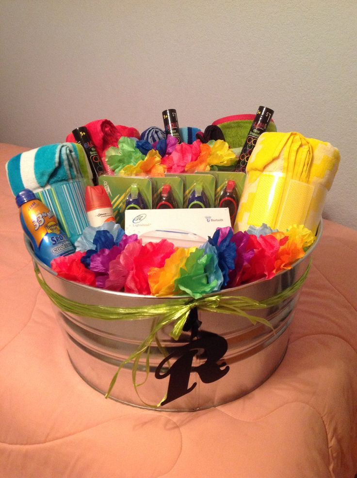 Best ideas about Pool Gift Ideas . Save or Pin Best 20 Summer Gift Baskets ideas on Pinterest Now.