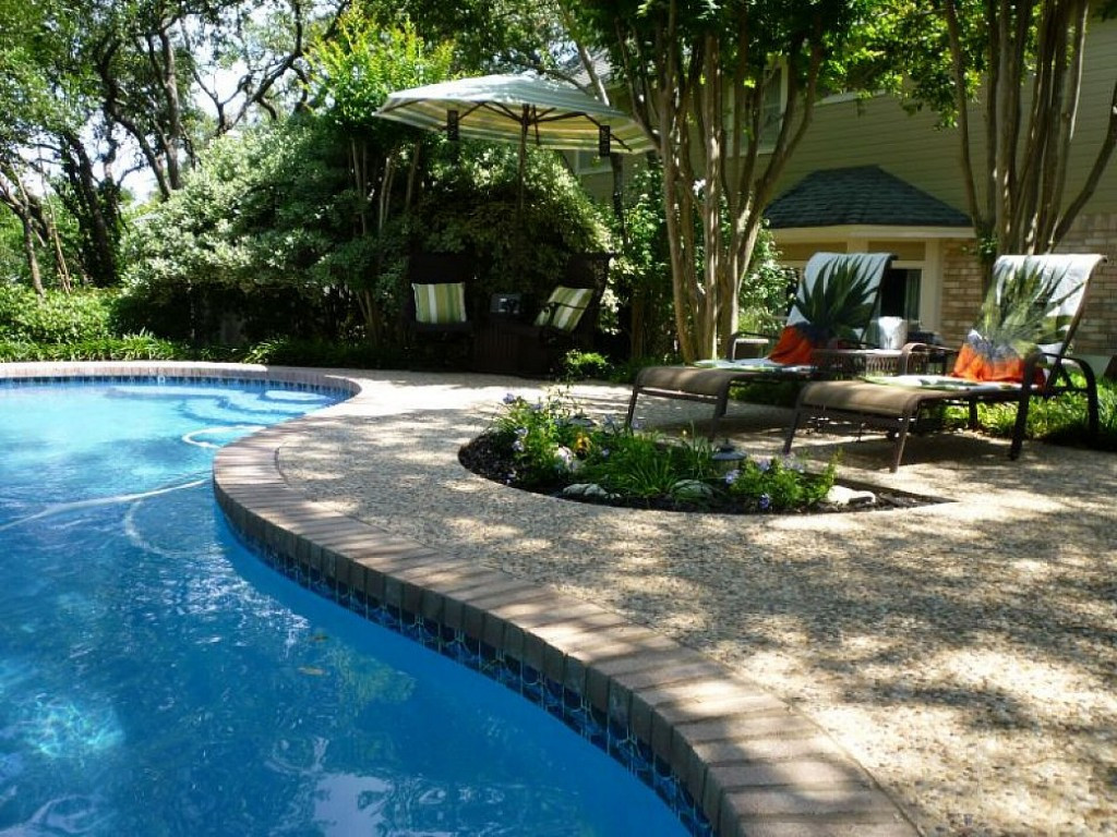 Best ideas about Pool Landscape Design . Save or Pin Backyard Landscaping Ideas Swimming Pool Design Now.