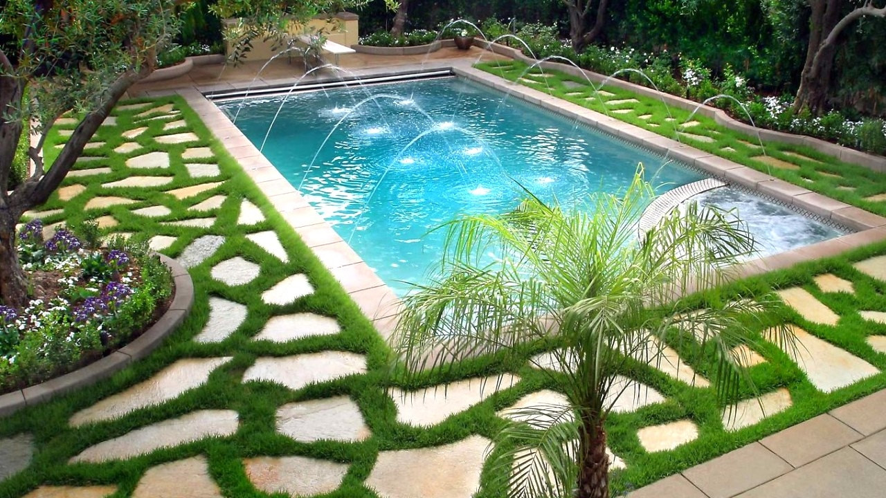 Best ideas about Pool Landscape Design . Save or Pin Swimming Pool Landscaping Ideas Ideas for Beautiful Now.