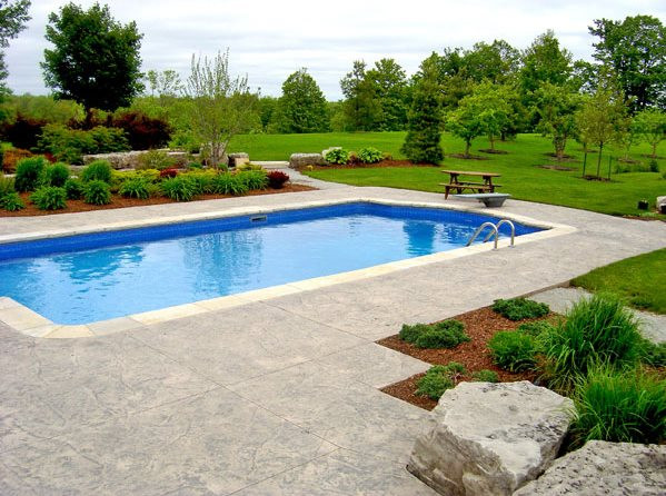 Best ideas about Pool Landscape Design . Save or Pin Swimming Pool Puslinch ON Gallery Landscaping Now.