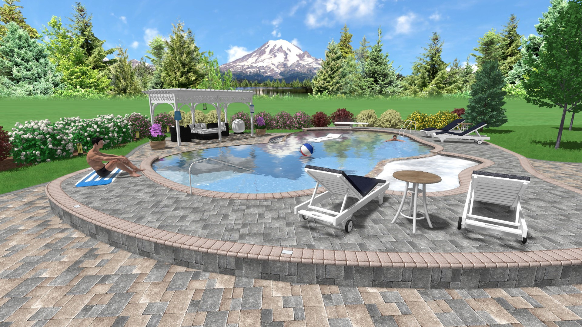 Best ideas about Pool Landscape Design . Save or Pin Landscape Design Software Gallery Now.