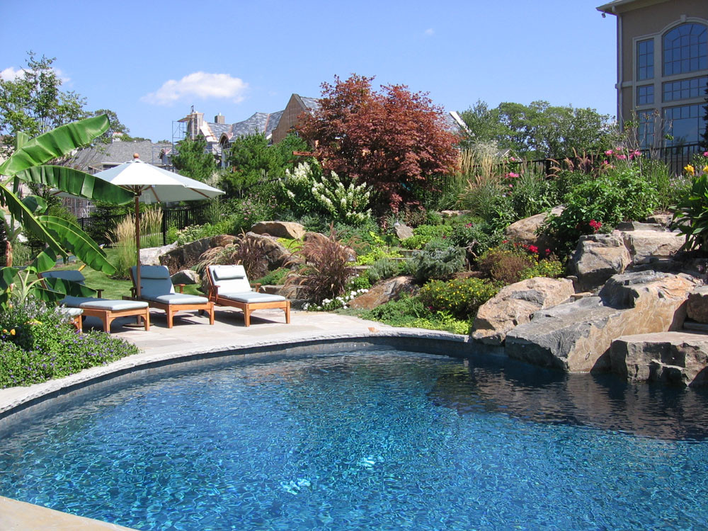 Best ideas about Pool Landscape Design . Save or Pin front yard ideas Tuscan style backyard landscaping Now.