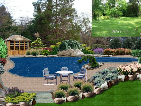 Best ideas about Pool Landscape Design . Save or Pin Landscape Design By Lee Long Island NY Gallery Now.