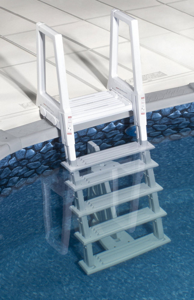 Best ideas about Pool Stairs Above Ground . Save or Pin NEW STRONG & STURDY POOL LADDER STEPS for ABOVE GROUND Now.