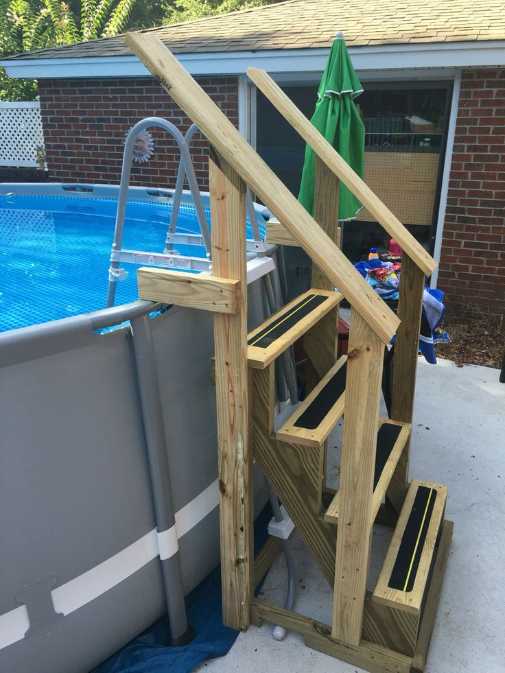 Best ideas about Pool Stairs Above Ground . Save or Pin Best 20 ground pool landscaping ideas on Pinterest Now.