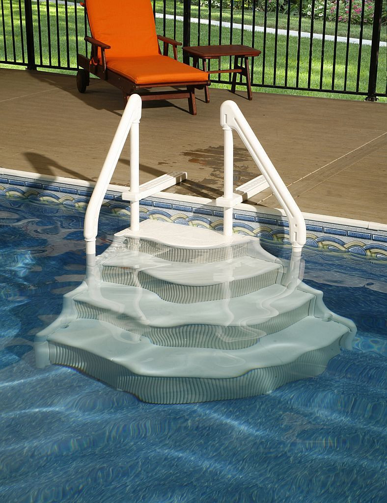 Best ideas about Pool Stairs Above Ground . Save or Pin Best 25 Pool steps ideas on Pinterest Now.