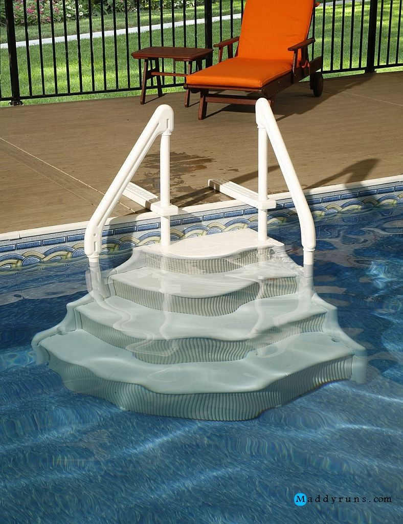 Best ideas about Pool Stairs Above Ground . Save or Pin Swimming Pool Swimming Pool Ladders For Ground Pools Now.