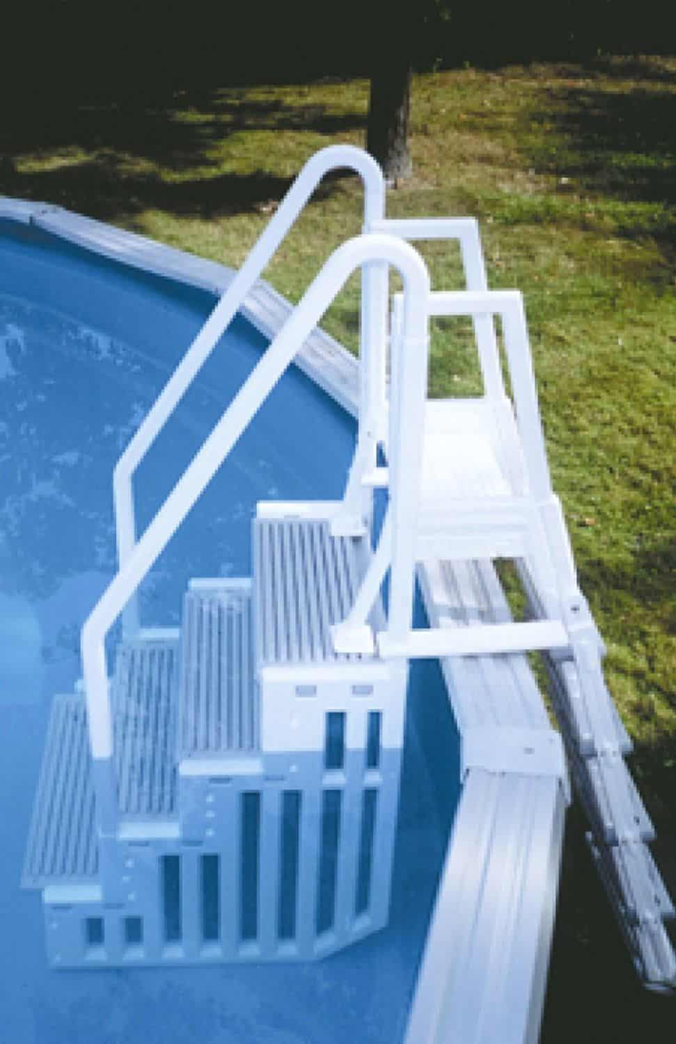 Best ideas about Pool Stairs Above Ground . Save or Pin The Best Ground Pool Ladders and Steps Home Pools Plus Now.