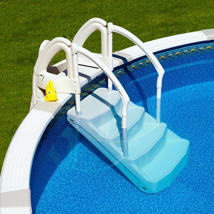 Best ideas about Pool Stairs Above Ground . Save or Pin Best 25 ground pool ladders ideas on Pinterest Now.