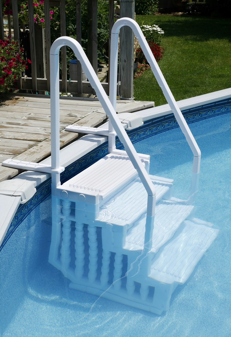 Best ideas about Pool Stairs Above Ground . Save or Pin Choosing a Ladder or Steps for an Ground Pool Now.