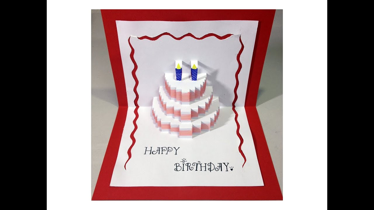 Best ideas about Pop Up Birthday Card Template . Save or Pin Happy Birthday Cake Pop Up Card Tutorial Now.