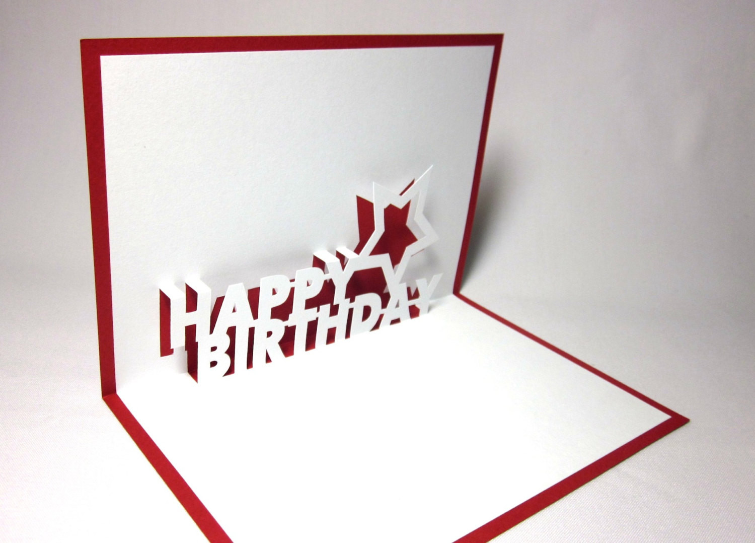 Best ideas about Pop Up Birthday Card Template . Save or Pin Happy Birthday Pop Up Card by galinblack on Etsy Now.