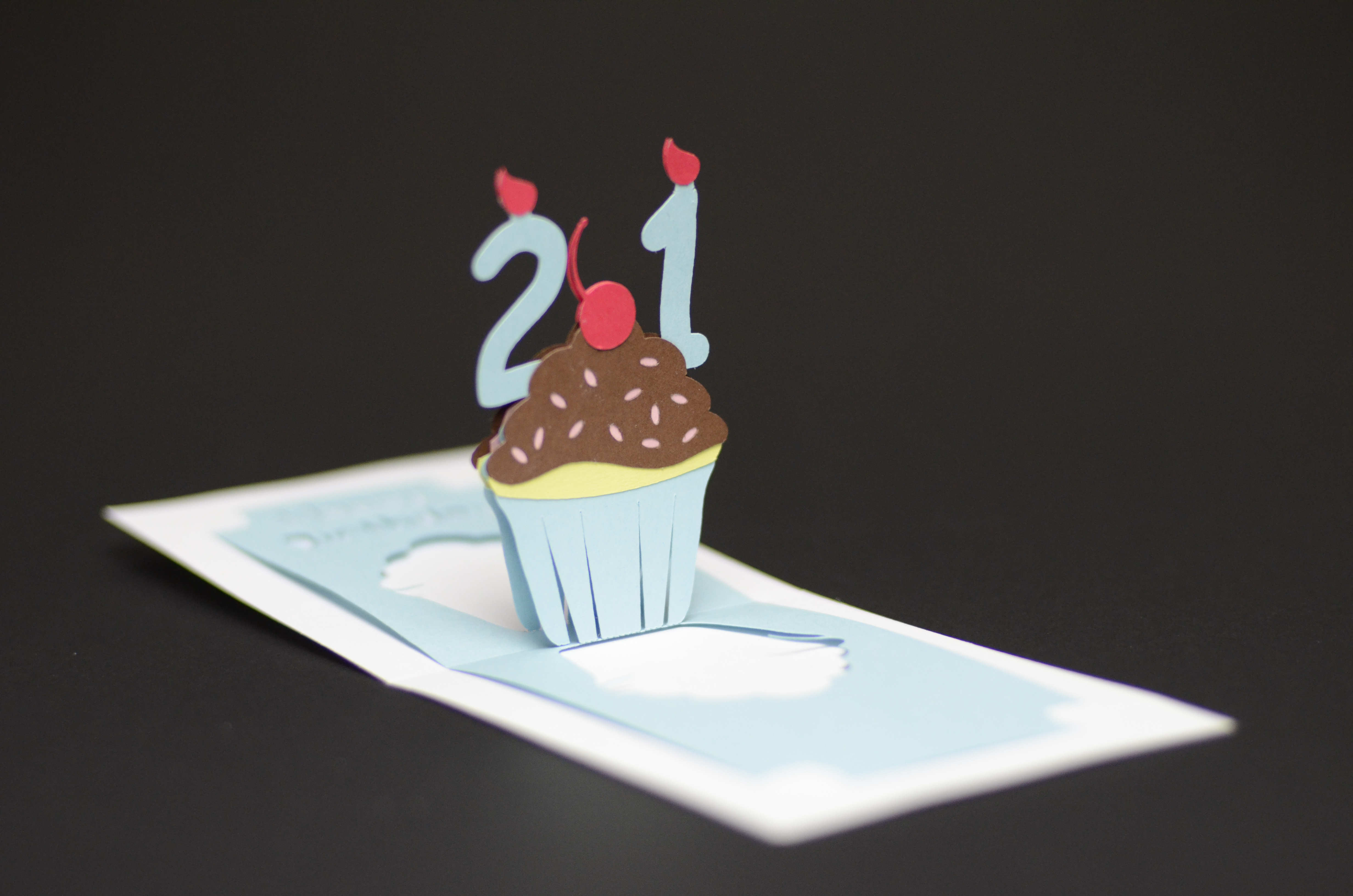 Best ideas about Pop Up Birthday Card Template . Save or Pin Birthday Pop Up Card Detailed Cupcake Tutorial Creative Now.