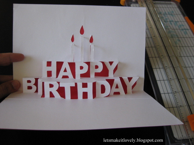 Best ideas about Pop Up Birthday Card Template . Save or Pin Let s make it lovely Happy Birthday Pop Up Card Now.