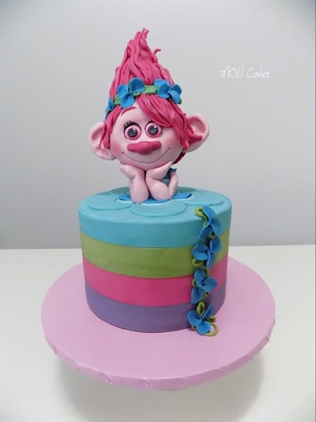 Best ideas about Poppy Troll Birthday Cake . Save or Pin Trolls Poppy cake by MOLI Cakes CakesDecor Now.