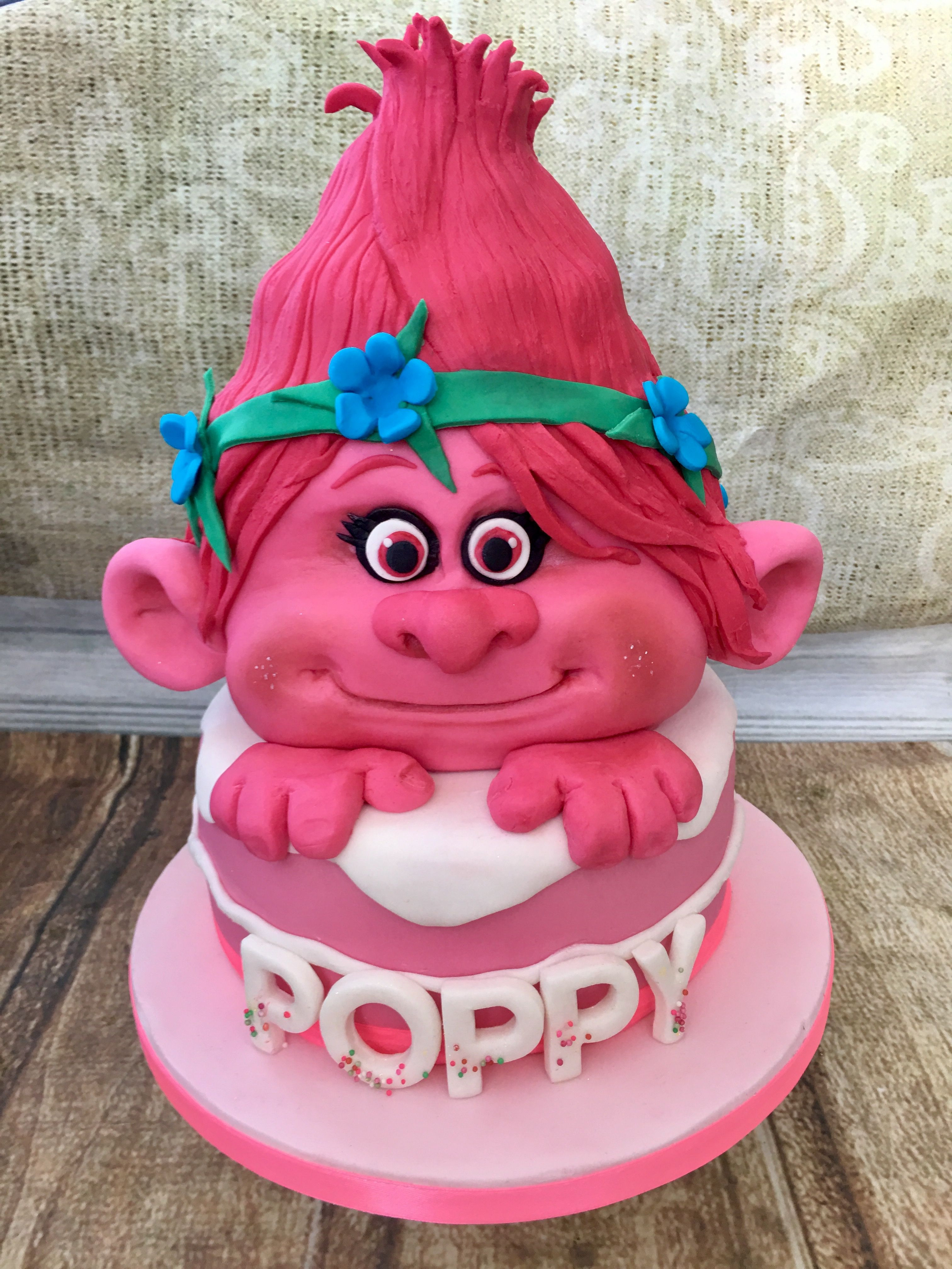 Best ideas about Poppy Troll Birthday Cake . Save or Pin Princess poppy troll birthday cake By Helen backhouse Now.