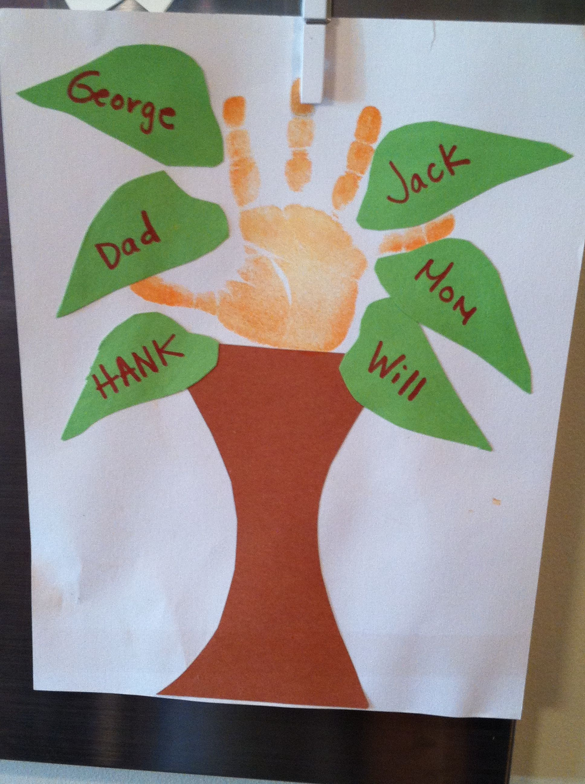 Best ideas about Preschool Art Projects . Save or Pin Family tree handprint art Preschool project Now.