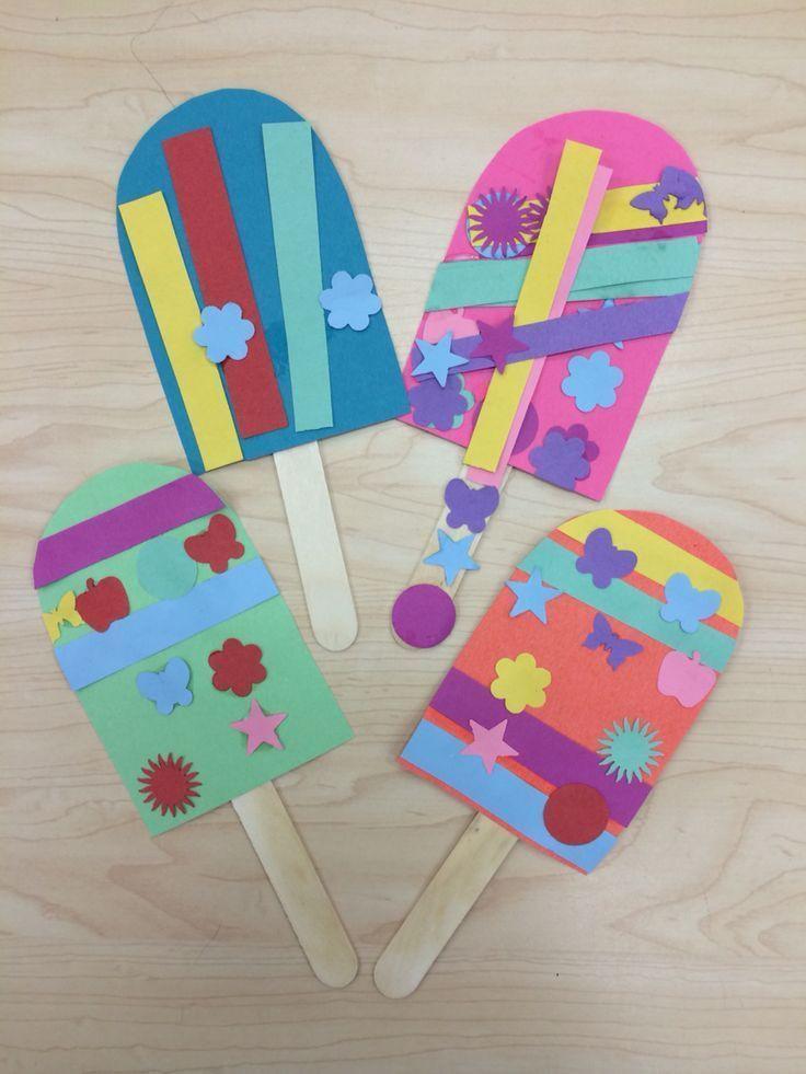 Best ideas about Preschool Art Projects . Save or Pin Popsicle Summer Art Craft for Preschoolers Kindergarten Now.