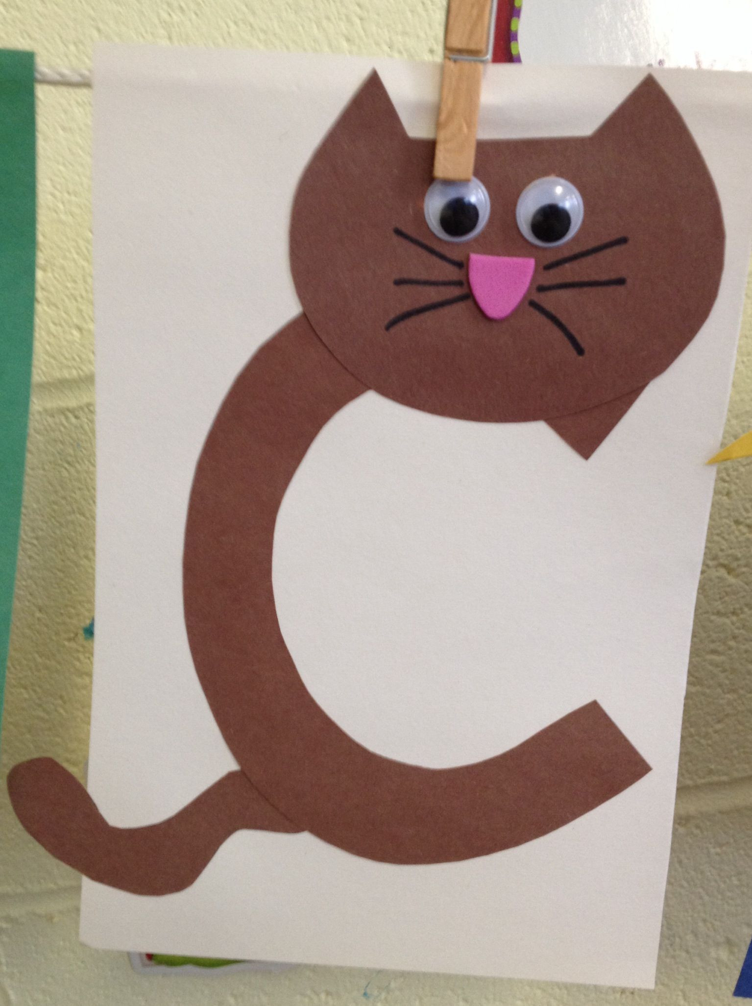 Best ideas about Preschool Arts And Craft . Save or Pin Preschool Letter C craft Now.