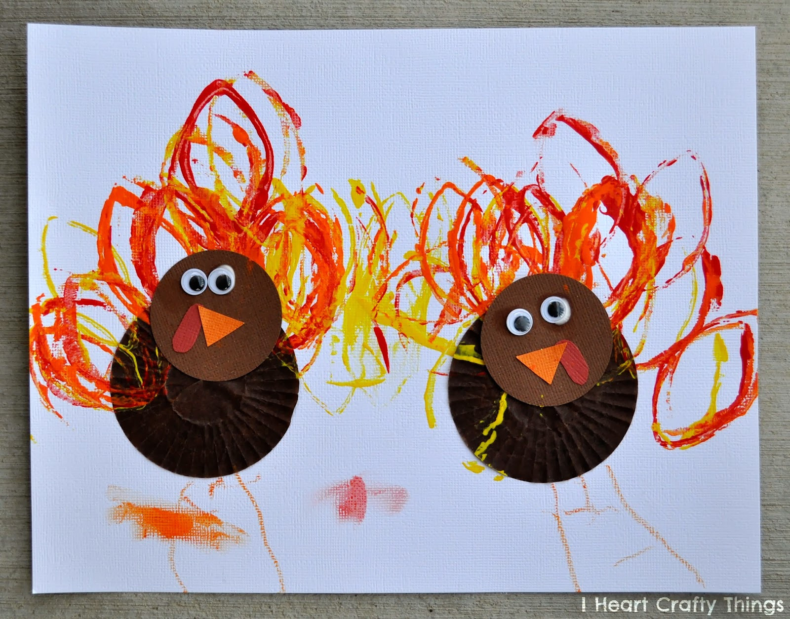 Best ideas about Preschool Arts And Craft . Save or Pin Cupcake Liner Turkey Craft Now.