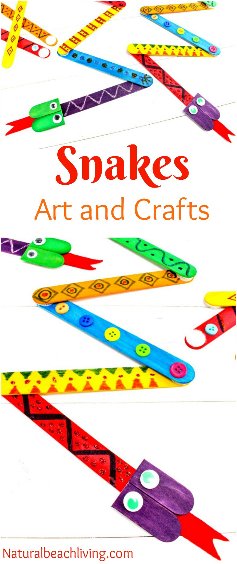 Best ideas about Preschool Arts And Craft . Save or Pin The Best Snake Crafts Preschoolers Love to Make Natural Now.