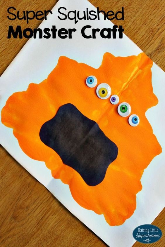 Best ideas about Preschool Arts And Craft . Save or Pin How To Make A Super Squished Monster Craft for Kids Now.