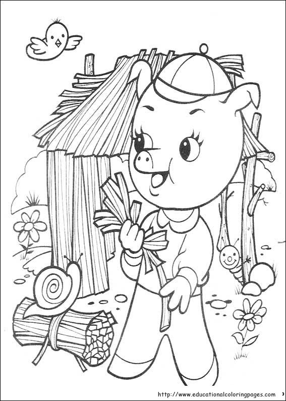 Best ideas about Preschool Coloring Sheets For The 3 Little Pigs . Save or Pin The three little pigs Coloring Educational Fun Kids Now.