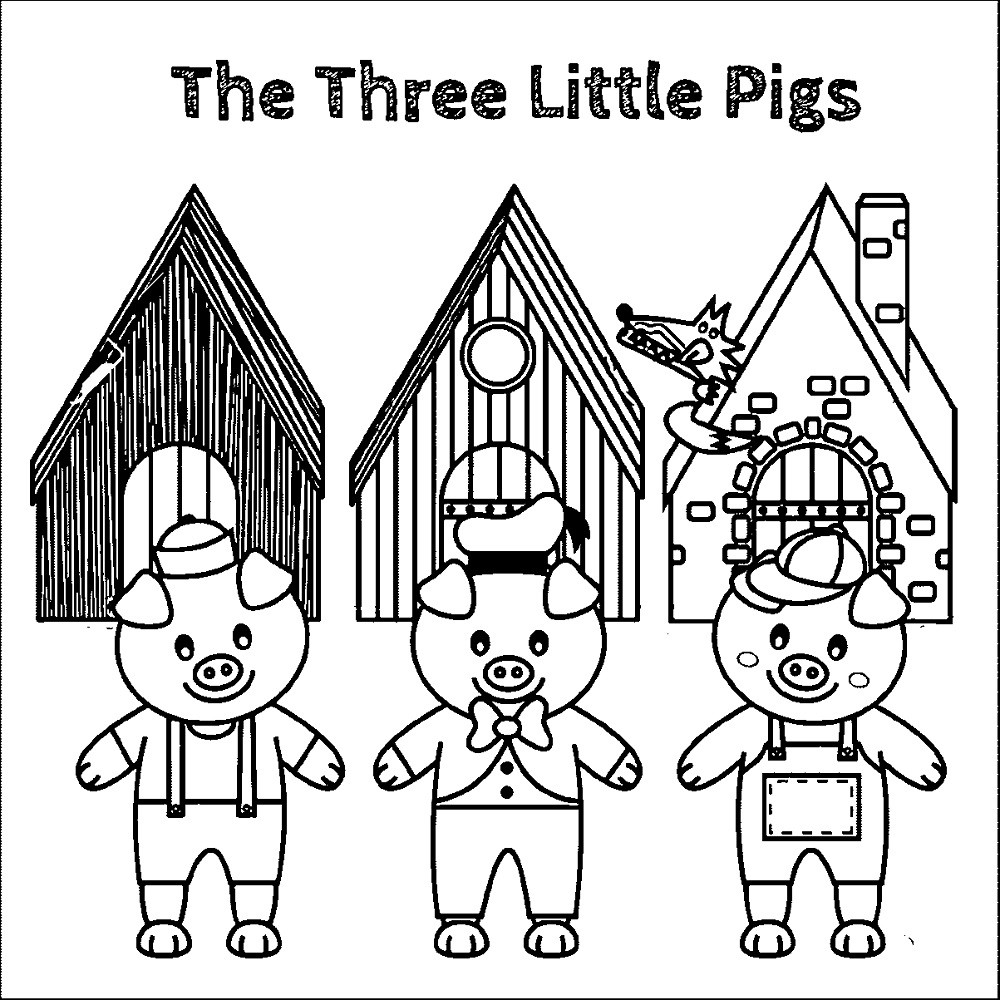 Best ideas about Preschool Coloring Sheets For The 3 Little Pigs . Save or Pin Printable Three Little Pigs Worksheets Now.