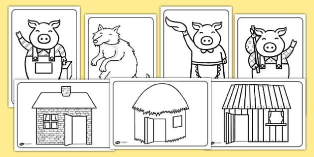 Best ideas about Preschool Coloring Sheets For The 3 Little Pigs . Save or Pin FREE The Three Little Pigs Colouring Sheets the three Now.