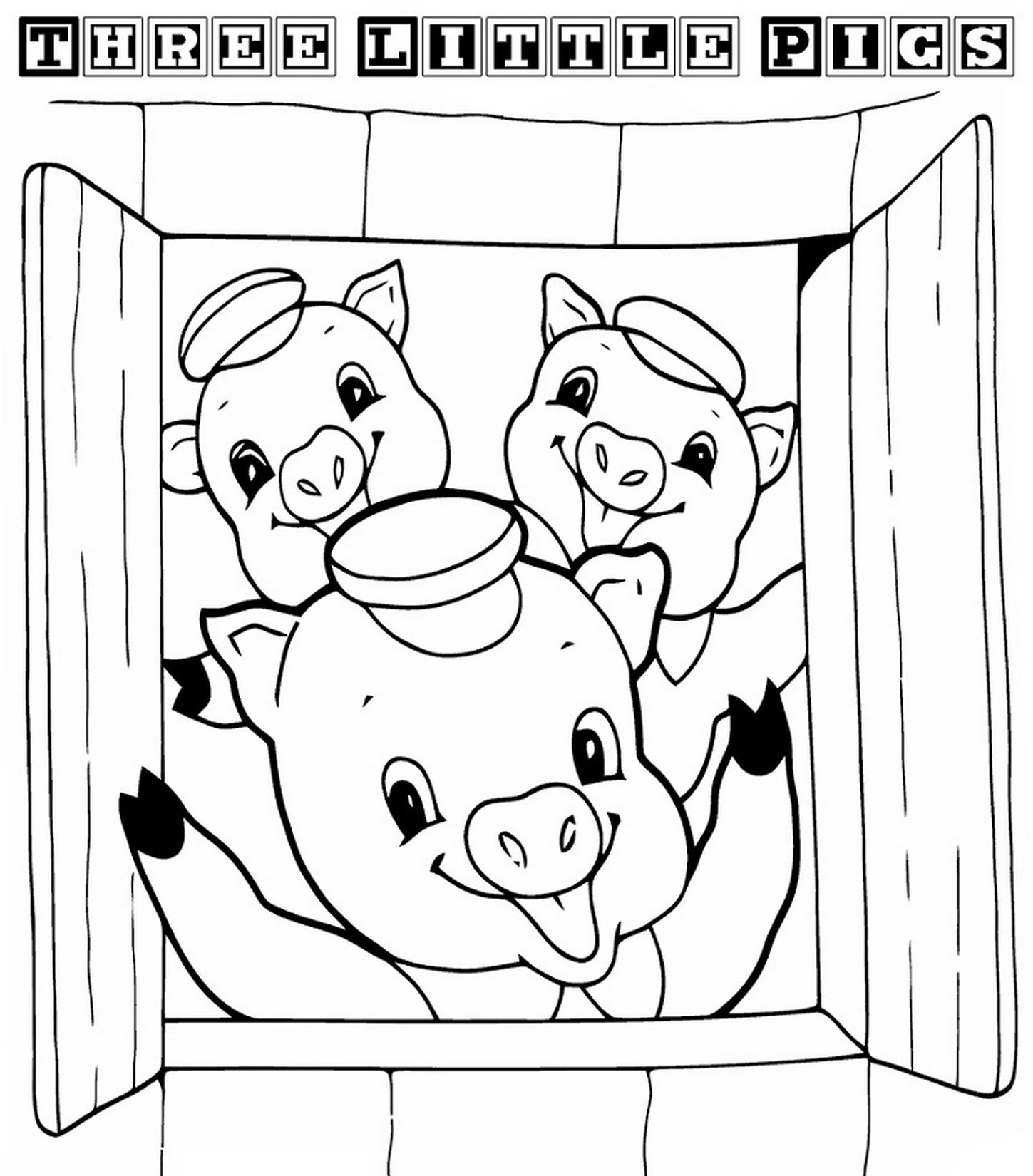 Best ideas about Preschool Coloring Sheets For The 3 Little Pigs . Save or Pin Three Little Pigs Pages For Preschoolers Coloring Pages Now.