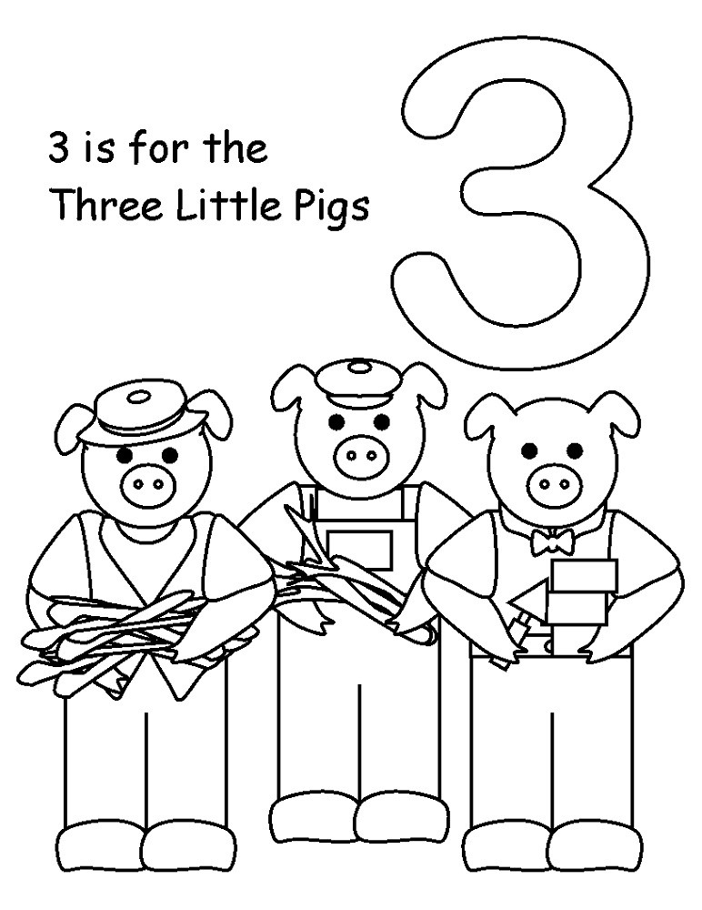 Best ideas about Preschool Coloring Sheets For The 3 Little Pigs . Save or Pin The Three Little Pigs Worksheets Now.