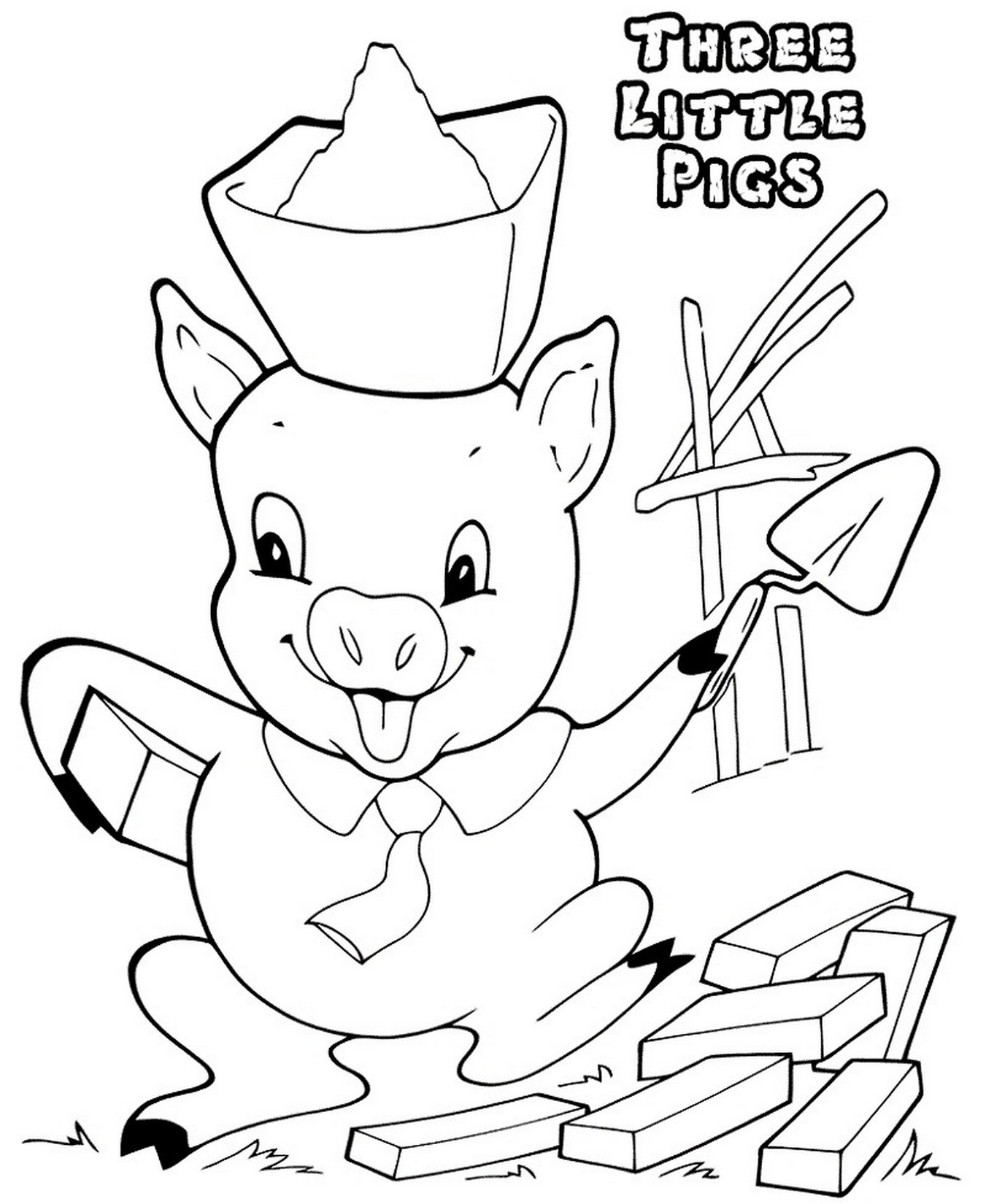 Best ideas about Preschool Coloring Sheets For The 3 Little Pigs . Save or Pin Three Little Pigs Coloring Pages for Preschool Now.