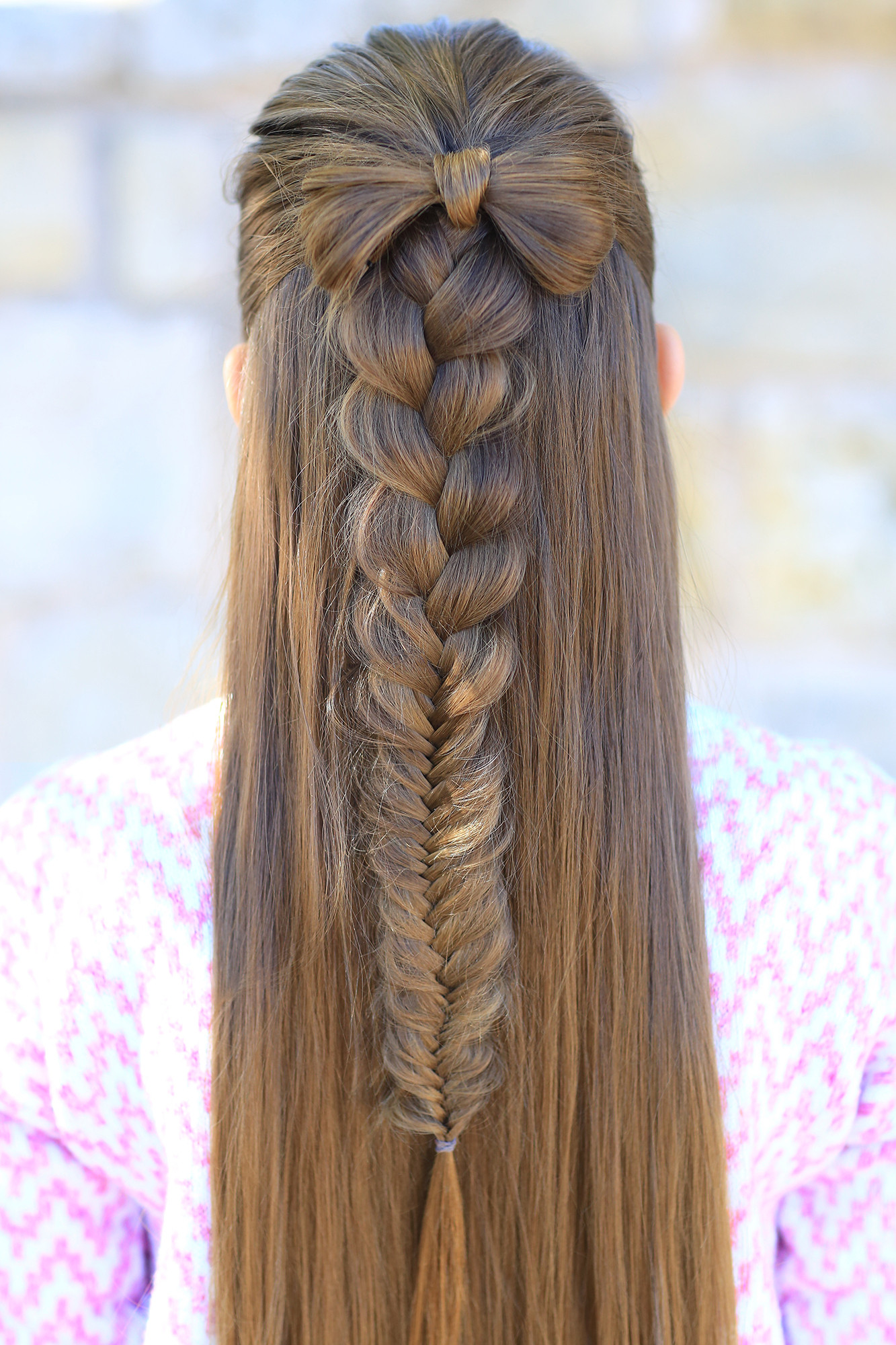 Best ideas about Pretty Girls Hairstyles . Save or Pin Half up Bow bo Now.
