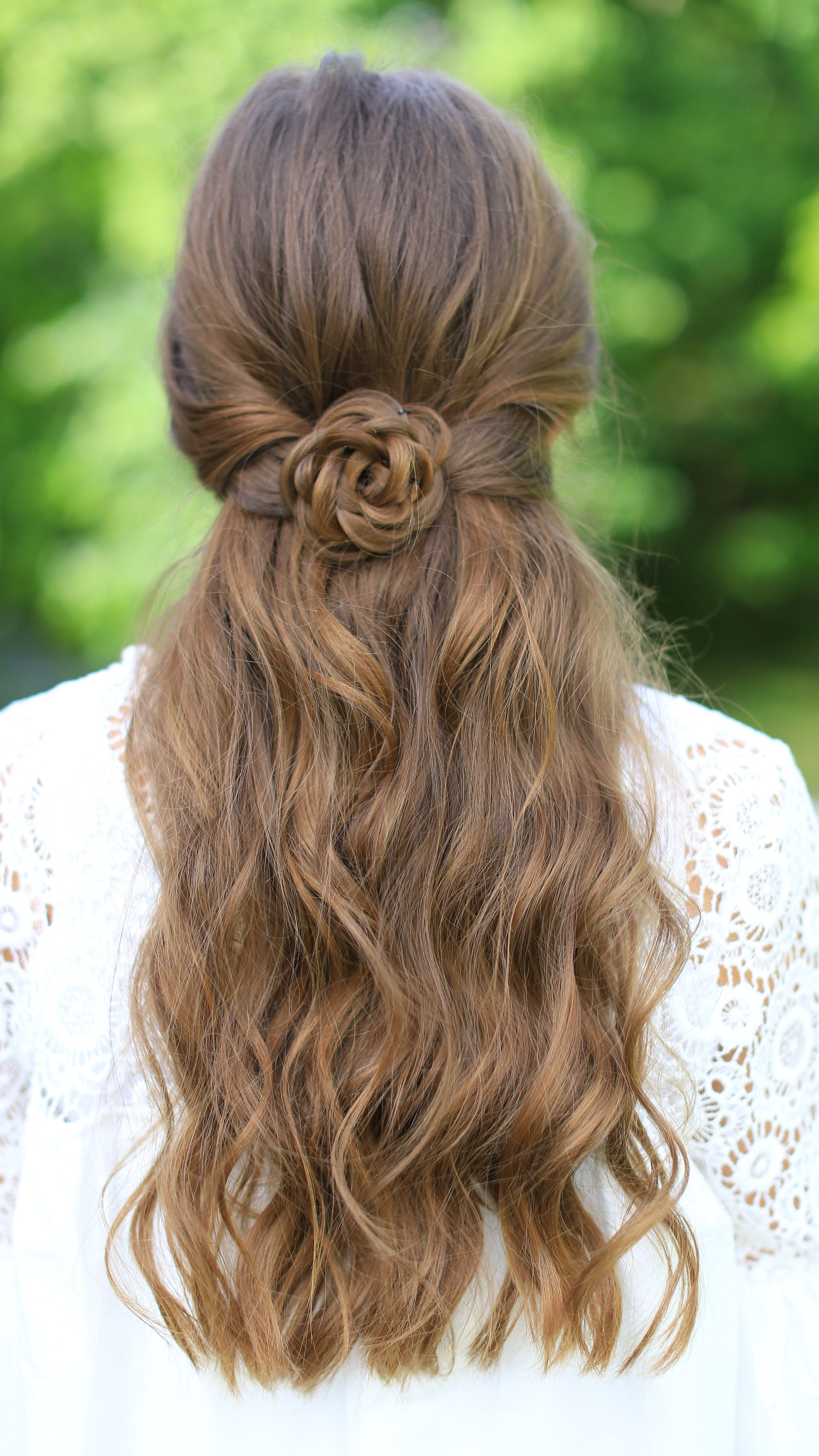 Best ideas about Pretty Girls Hairstyles . Save or Pin Rosette Tieback Now.