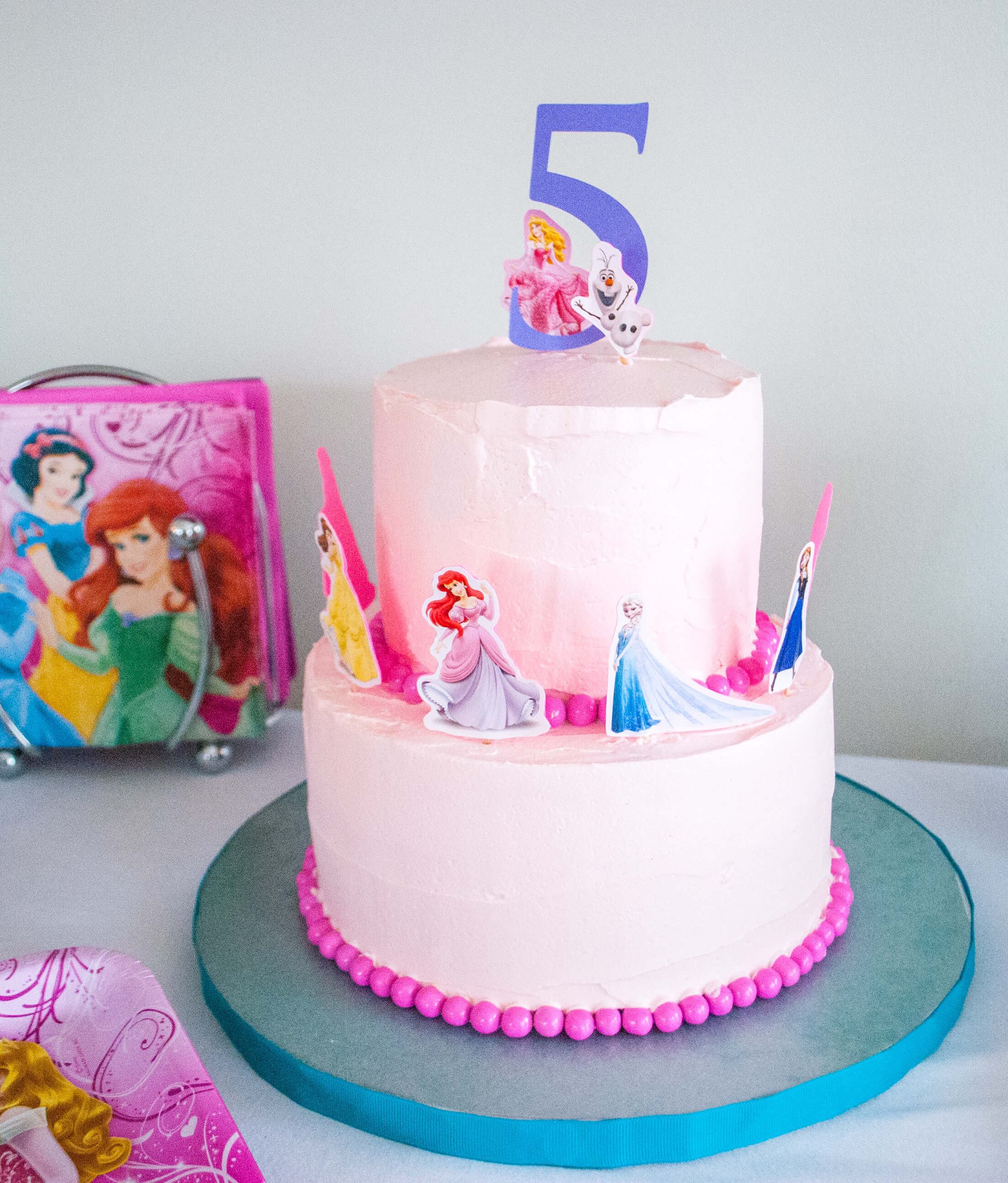 Best ideas about Princes Birthday Cake . Save or Pin Make an Easy Disney Princess Birthday Cake Using Stickers Now.