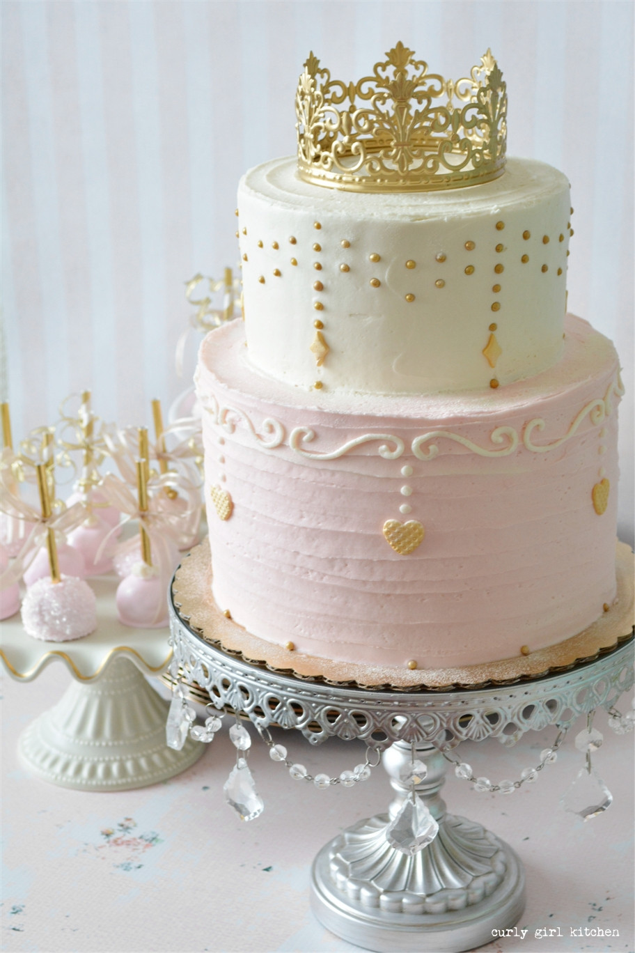 Best ideas about Princes Birthday Cake . Save or Pin Curly Girl Kitchen Pink and Gold Princess Party Cake Now.