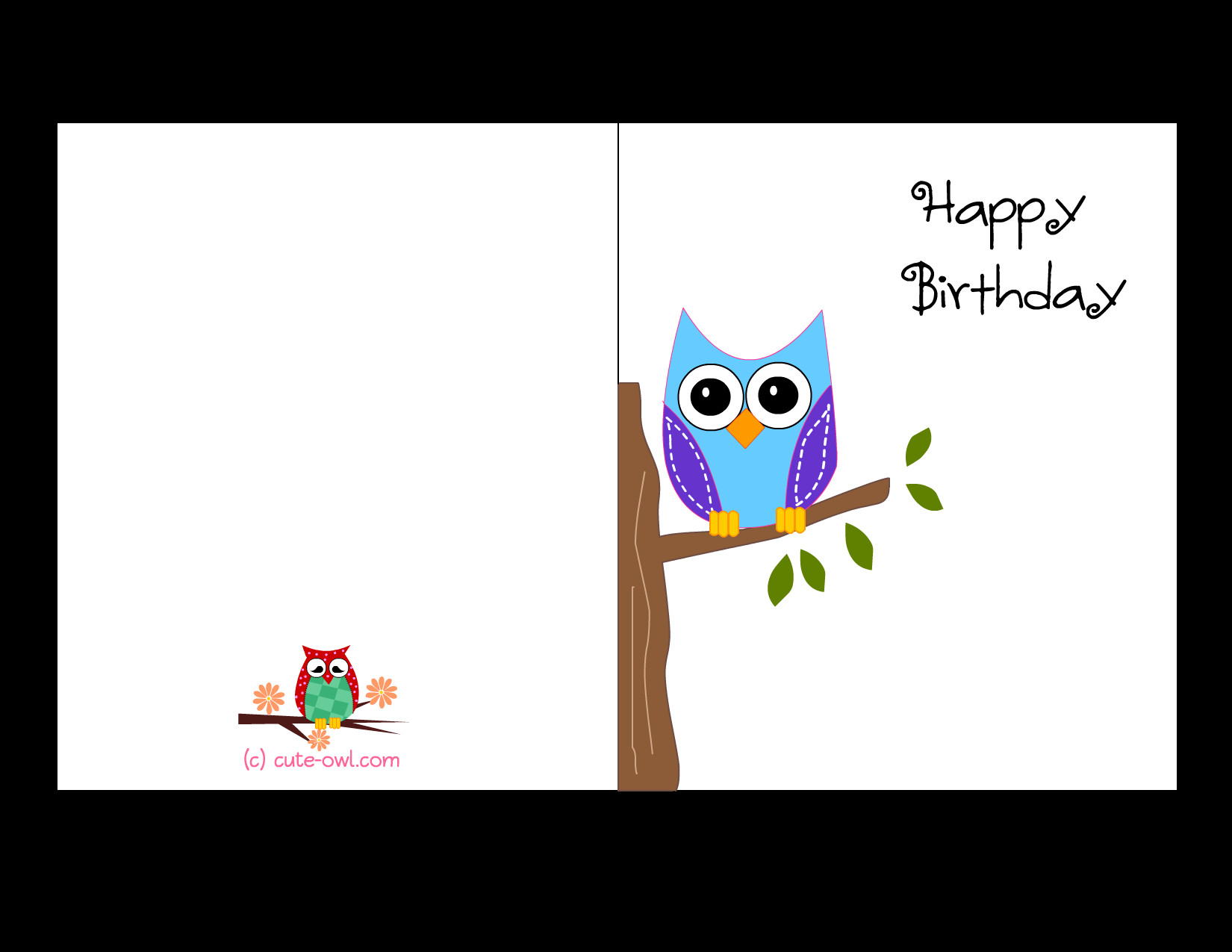 Best ideas about Print Birthday Card . Save or Pin Free Printable Cute Owl Birthday Cards Now.