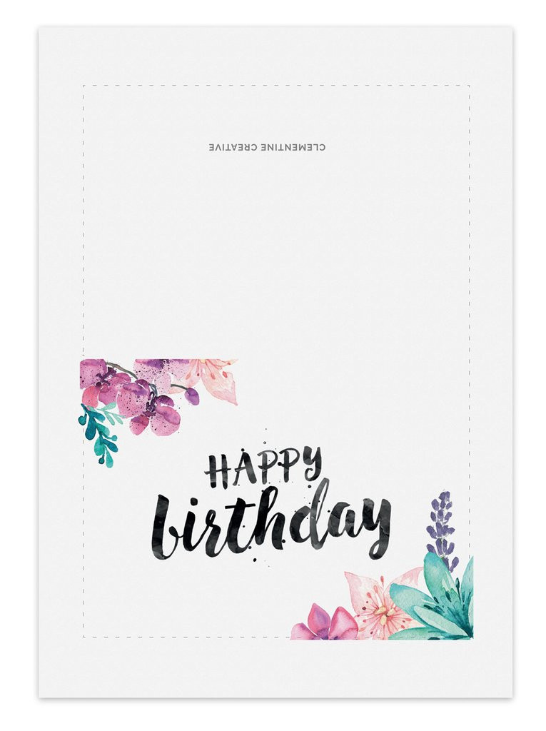 Best ideas about Print Birthday Card . Save or Pin Printable Birthday Card for Her – Clementine Creative Now.
