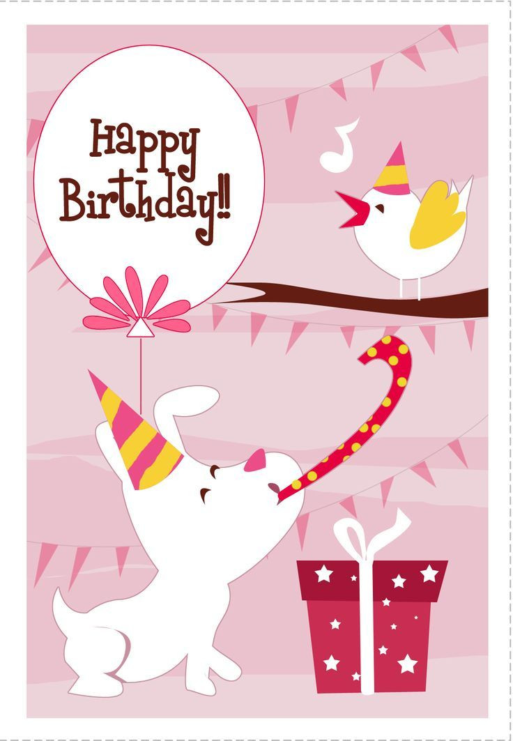 Best ideas about Print Birthday Card . Save or Pin 138 best images about Birthday Cards on Pinterest Now.