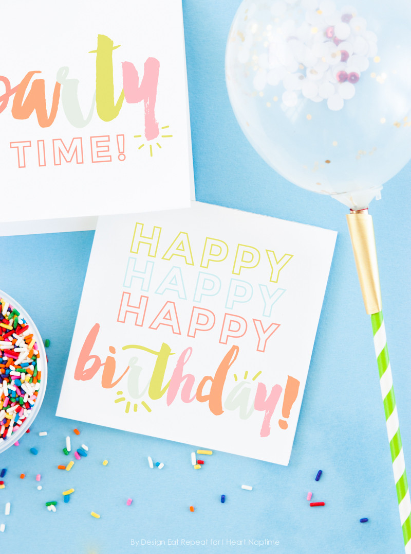 Best ideas about Print Birthday Card . Save or Pin Free Birthday Printables Eighteen25 Now.