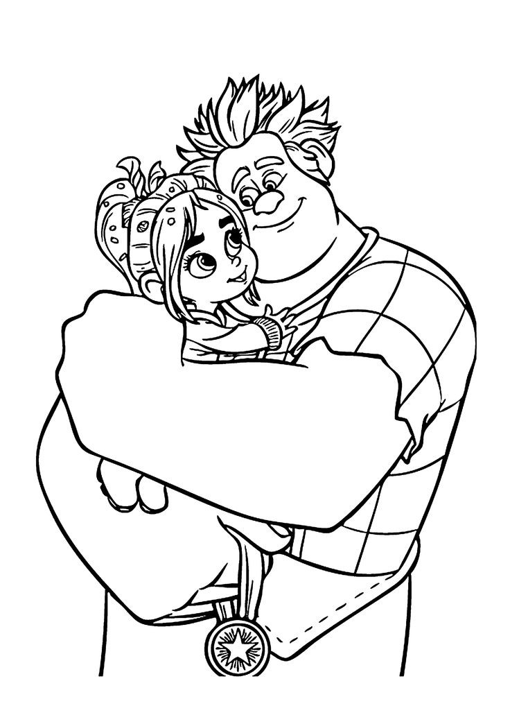 Best ideas about Print Free Coloring Pages . Save or Pin Ralph and Vanellope coloring pages for kids printable Now.