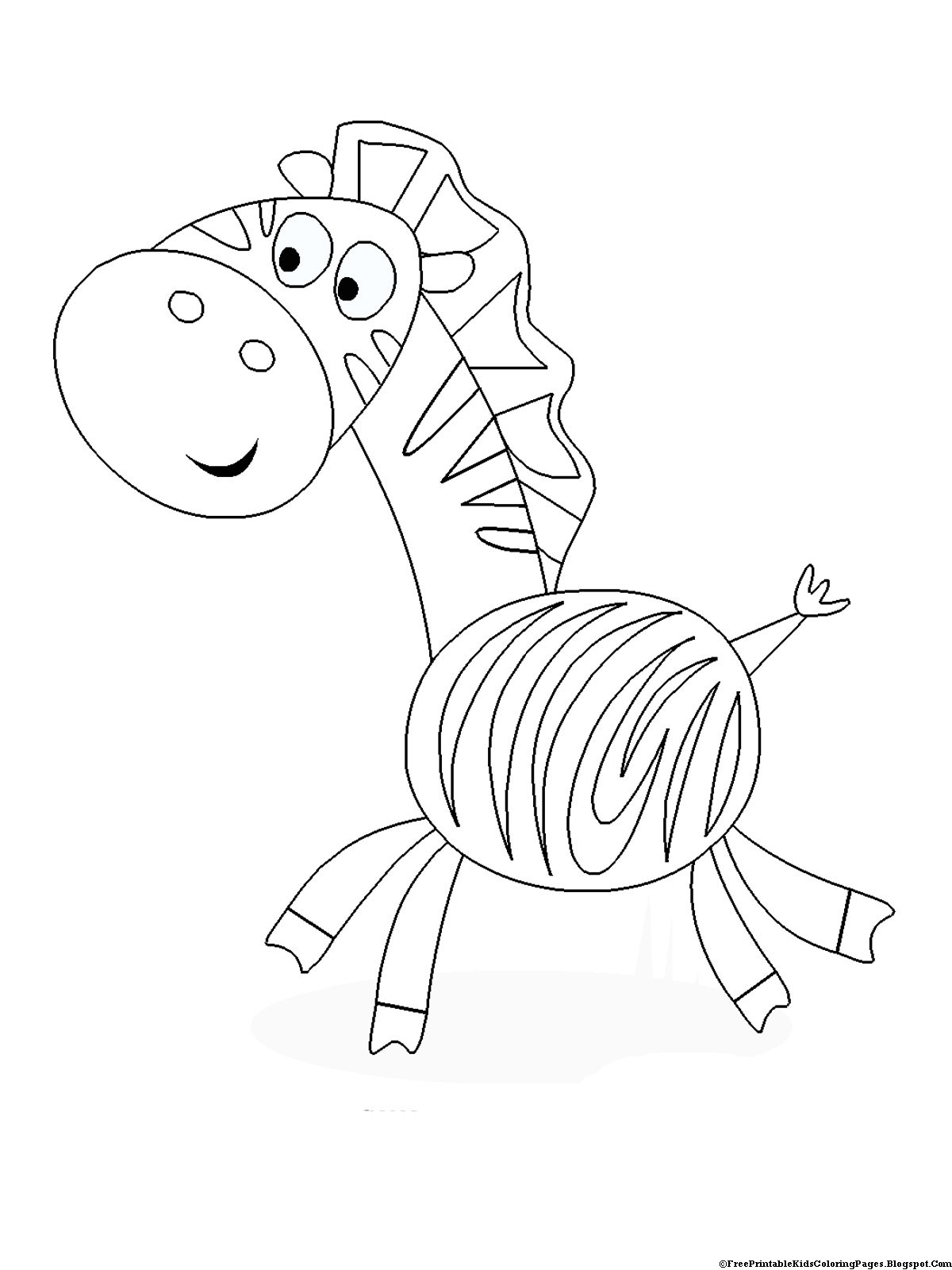 Best ideas about Print Free Coloring Pages . Save or Pin Zebra Coloring Pages Free Printable Kids Coloring Pages Now.