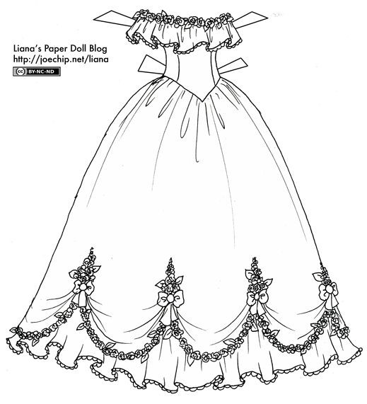 Best ideas about Print Out Coloring Sheets For Girls Dresses . Save or Pin Black and White Party Dress and Ball Gown Now.