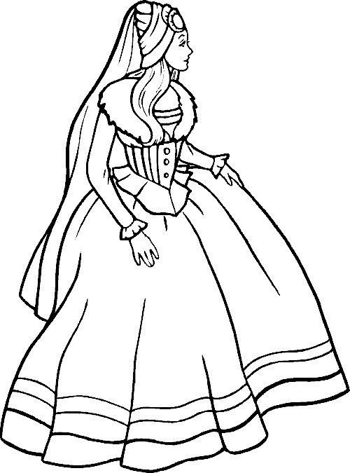 Best ideas about Print Out Coloring Sheets For Girls Dresses . Save or Pin Printesa rusoaica Plansa de colorat Now.