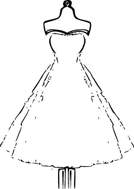 Best ideas about Print Out Coloring Sheets For Girls Dresses . Save or Pin Bridal Dress Mannequin Wedding · Free vector graphic on Now.